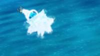 Gyarados de Misty usando hidrobomba.