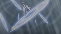 Swanna de Gerania usando tajo aéreo.