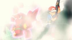 Volcanion usando neblina.