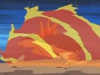 Typhlosion usando Rueda fuego.