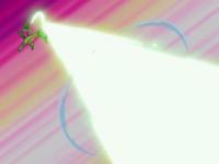 Grovyle usando rayo solar.