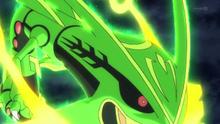 Mega-Rayquaza usando ascenso draco .