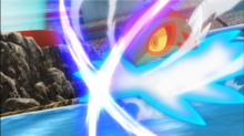 Hawlucha de Ash usando tijera X.