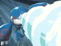 Kyogre usando hidrobomba.