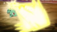 Bulbasaur usando rayo solar.