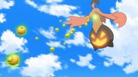 Gourgeist de Jessie usando bomba germen.
