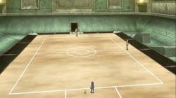 Campo de batalla del Gimnasio de Yantra en el anime