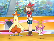 EP400 May-Aura, Combusken y Skitty.png