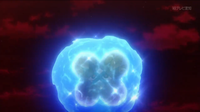 Mega-Metagross de Steven/Máximo usando puño meteoro.