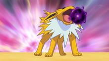Jolteon usando bola sombra.