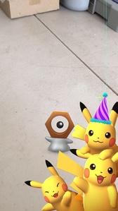 Pikachu festivo en la Instantánea de GO.jpg