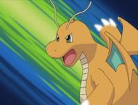 Dragonite usando garra dragón.