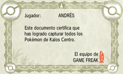 Certificado Pokédex Kalos Centro XY.png