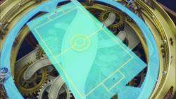 Campo de batalla del Gimnasio de Fluxus en el anime