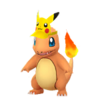 Charmander con gorro de Pikachu