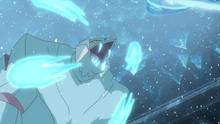 Avalugg usando colmillo hielo.