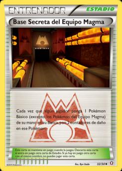 Carta Base Secreta del Equipo Magma