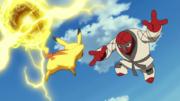 P14 Versión Blanca Pikachu VS Throh.png