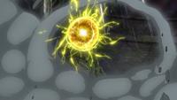 Bola voltio del Pikachu de Ash.