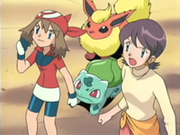 EP353 May-Aura, Savannah, Bulbasaur y Flareon.png