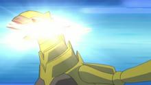 Haxorys usando Golpe roca.