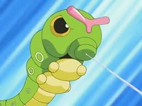 Caterpie usando disparo demora.