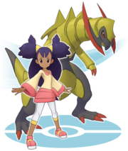 Iris y Haxorus Pokémon Masters.png