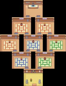 Interior del Gimnasio de Petalia en los videojuegos