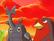 EP441 Heracross y Swellow.png