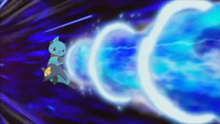 Dewott usando hidrobomba.
