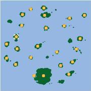 Localización de Isla Mandarín/Mandarina (norte).