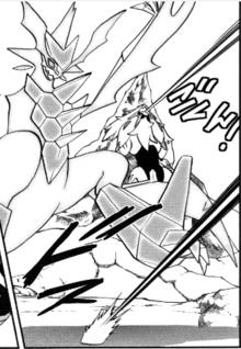 Necrozma recibiendo el ataque