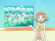 EP524 Marian anunciando el concurso Pokémon de pueblo Sosiego.png