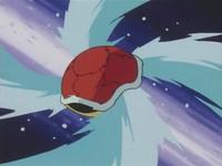 Squirtle usando hidrobomba.