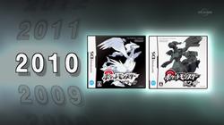 Portada de Pokémon Negro y Blanco en el especial.