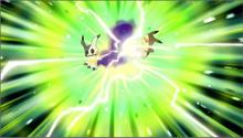 Pikachu usando cola ferréa
