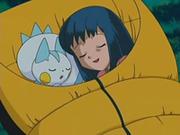 EP488 Maya durmiendo con Pachirisu.png