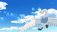 Swanna usando rayo burbuja.