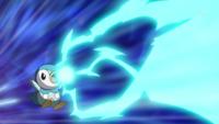 Piplup usando rayo hielo.