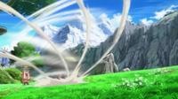 Mega-Mawile usando viento feérico.