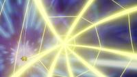 Un Joltik salvaje usando electrotela...
