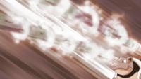 Blastoise de los Ultrahéroes usando hidrobomba.