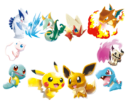 Artwork varios Pokémon Rumble Rush.png