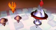 Icono de Moltres en el tablero holográfico.