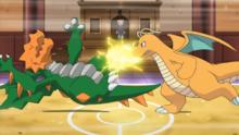 Dragonite usando puño trueno.