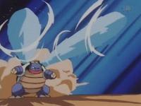 Blastoise usando hidrobomba.