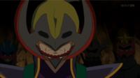 Kagetomo con su máscara de Haxorus.