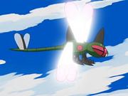 Yanmega usando ala de acero.