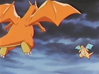 EP255 Charizard contra Dragonite