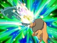Metagross usando puño meteoro.